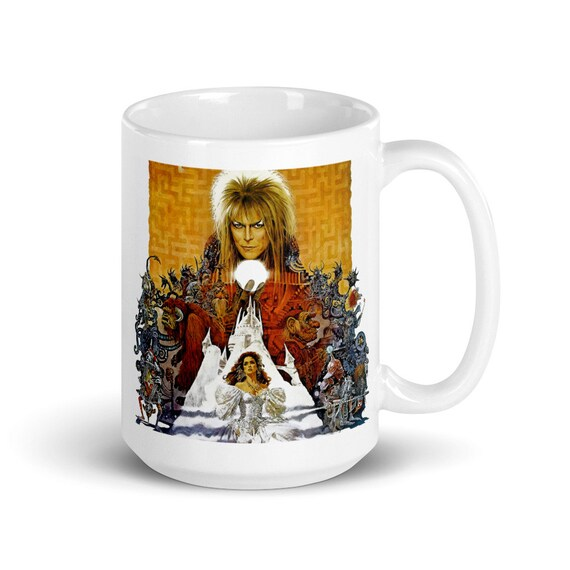 Labyrinth - Glossy Ceramic Coffee Mug - Fan Inspired - Fantasy - David Bowie - Labyrinth Movie