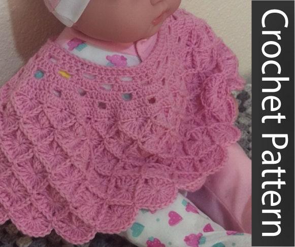 Pattern Crochet Baby Poncho Baby Wrap Doll Poncho Doll Wrap