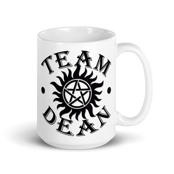 Team Dean - Glossy Ceramic Mug - Coffee - Supernatural - Winchester - Anti Possession