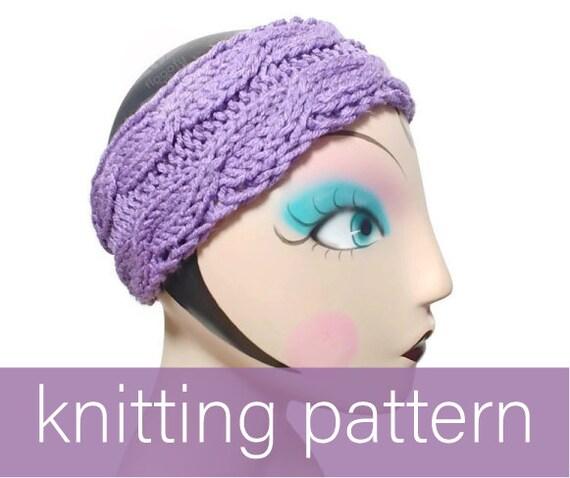 Twin Peeks Cable Ear Warmer Knitting Pattern