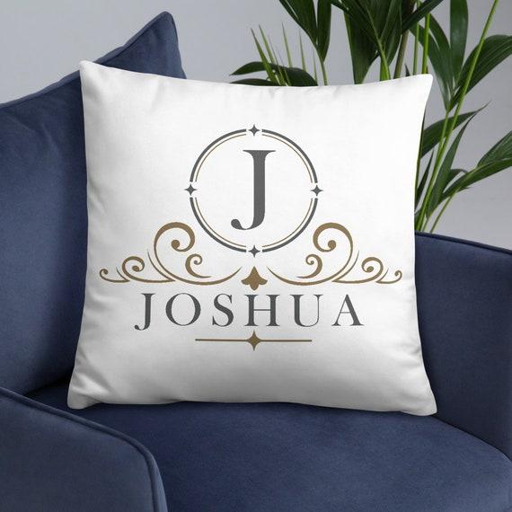 Personalized Vintage (round) Throw Pillow - Custom Pillow - Customized Decor - Name - Initials - Brand Name - Monogram