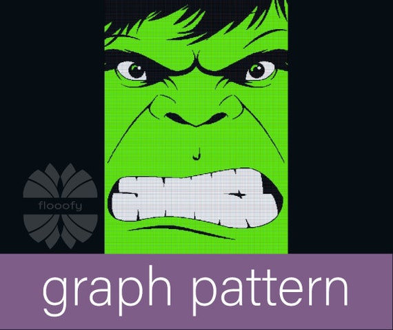 Hulk Inspired (Extra Large) Graph Pattern