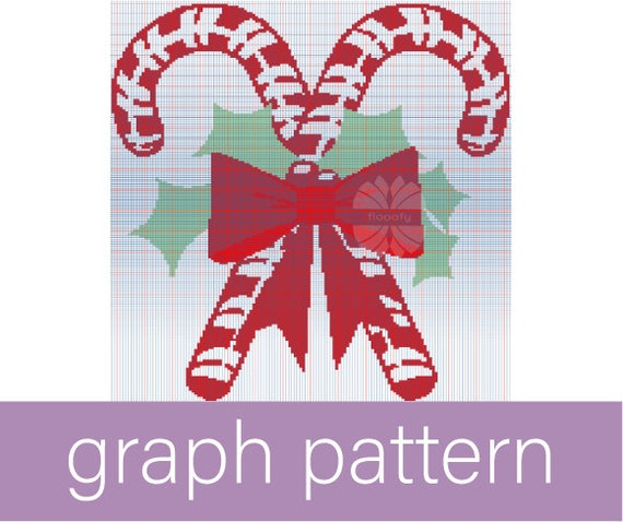 Candy Canes (Medium) Christmas Graph Pattern