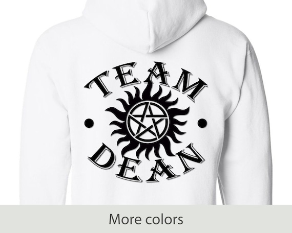 Team Dean - Full Zip Hooded Sweatshirt - Supernatural - Winchester - Anti-possession