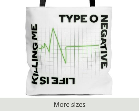 Life is Killing Me - Tote Bag (3 Sizes) - Purse - Laptop Bag - Type O Negative - Peter Steele