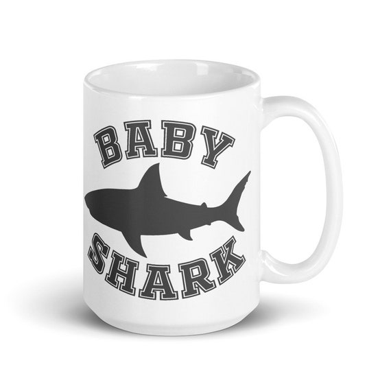 Baby Shark - Glossy Ceramic Mug - New Baby - Baby Shower - Kids - Coffee - Animal - Cute
