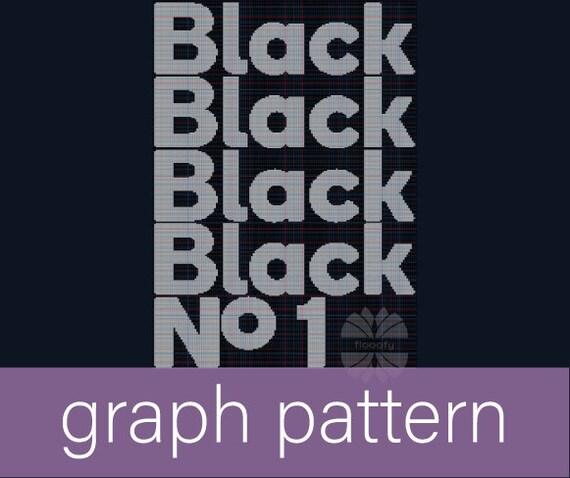 Black Number One (Medium) Graph Pattern - Type O Negative