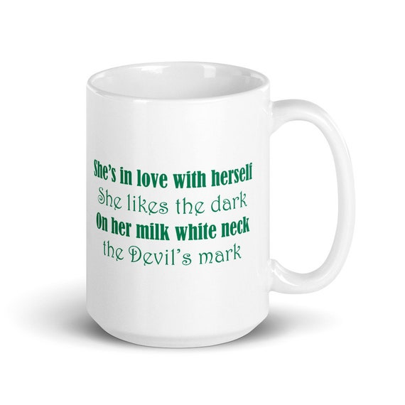 Devil's Mark - Glossy Ceramic Mug - Coffee - Type O Negative - Black No 1 - Every Day is Halloween - Gothic - Peter Steele