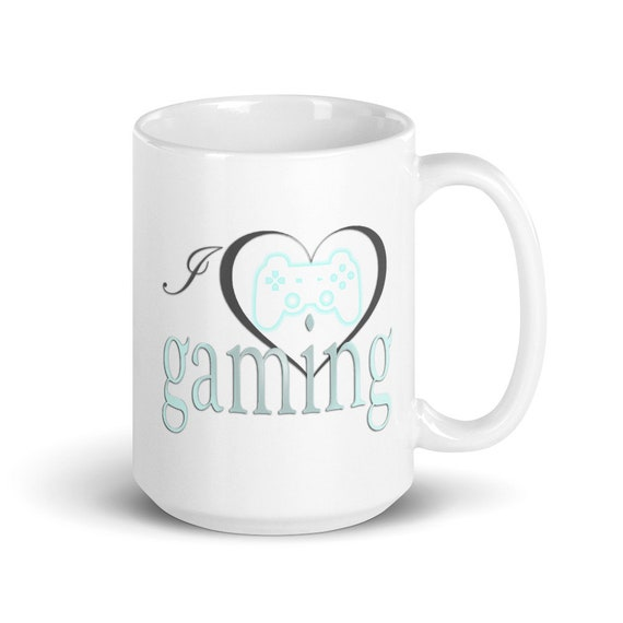 I Love Gaming - Glossy Ceramic Mug - Video Game - Gamer - MMORPG - Technology - Geek - Tech - Nerdy