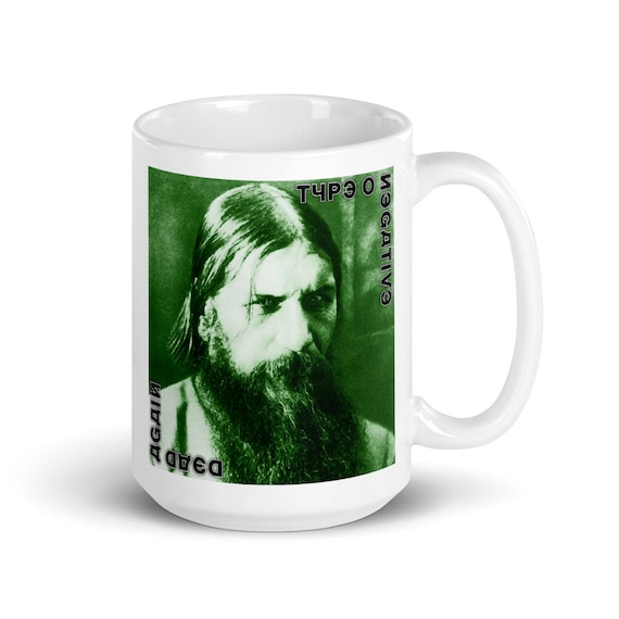 Dead Again - Glossy Ceramic Mug - Coffee - Graphic - Type O Negative - Peter Steele - Gothic - Halloween - Vampire
