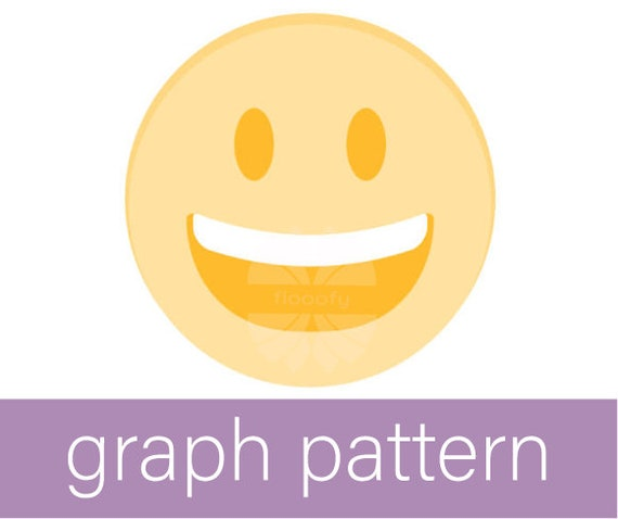 Emoji Grin (Medium) Graph Pattern