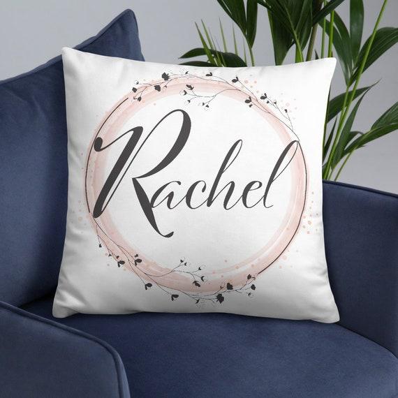 Custom Flower Buds Throw Pillow (round) - Personalized Gifts - Initials - Monogram - Name - Wedding - Anniversary - Custom Gifts