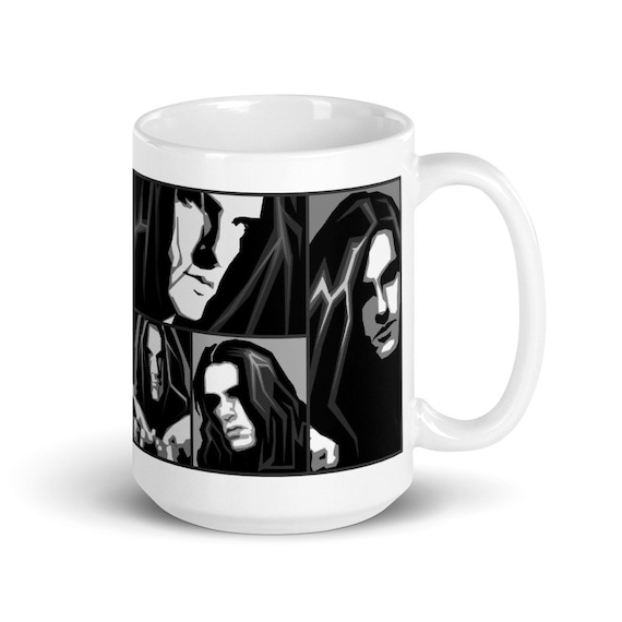 Peter Collage - Glossy Ceramic Mug - Coffee - Graphic - Type O Negative - Peter Steele - Gothic - Halloween