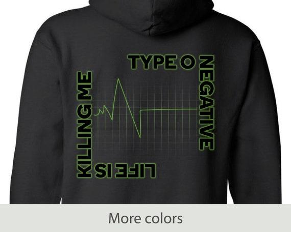 Life is Killing Me - Full Zip Hooded Sweatshirt - Gothic - Type O Negative - Peter Steele - Halloween - Music