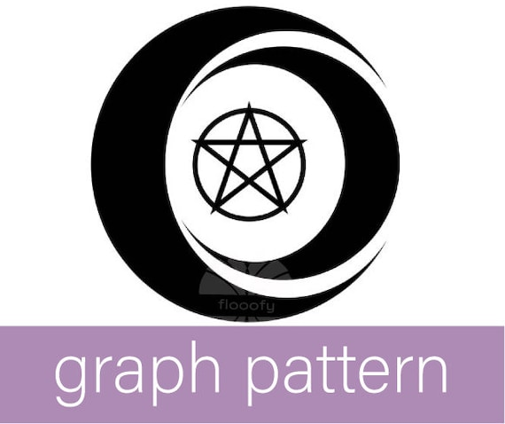 Tribal Moons Pentacle (Medium) Graph Pattern