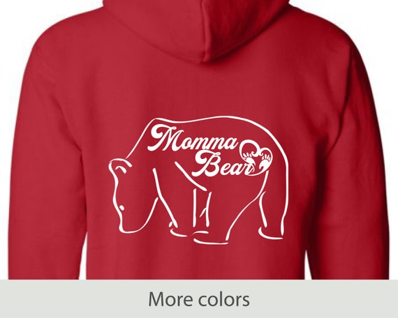 Momma Bear - Full Zip Hooded Sweatshirt - Mother's Day - New Mom - Birthday - Gifts for Her