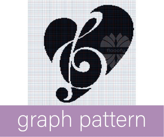 Music Lover Heart (Medium) Graph Pattern