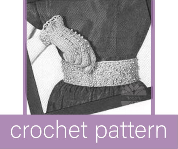 Vintage Lady's Beaded Gloves and Belt Crochet Pattern