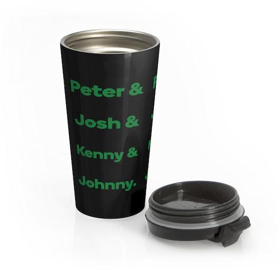 Peter, Josh, Kenny & Johnny - Stainless Steel Travel Mug - Type O Negative Inspired - Peter Steele - Halloween - Goth