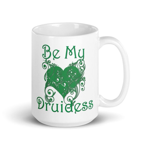 Be My Druidess - Glossy Ceramic Mug - Coffee - Graphic - Type O Negative - Peter Steele - Gothic - Halloween - Valentine's Day - Anniversary