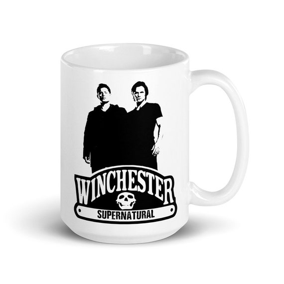 Winchester - Glossy Ceramic Mug - Graphic - Coffee - Supernatural - Sam and Dean