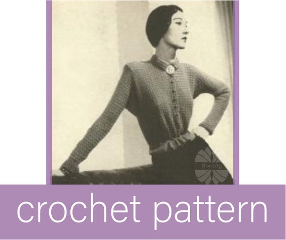 Vintage (1920s) Lady's Roundabout Top Crochet Pattern