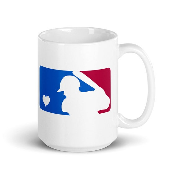 MLB Heart - Glossy Ceramic Mug - Coffee - Graphic - Sports - Games - Play Ball - Baseball Mom - Baseball Dad