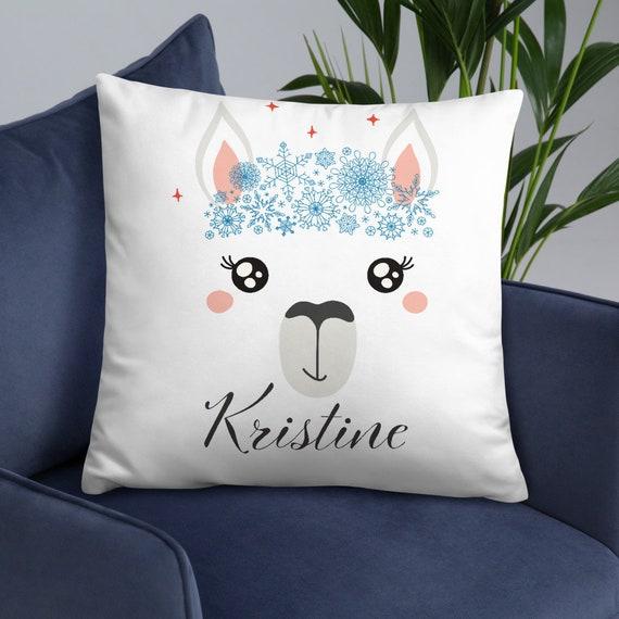 Custom Christmas Throw Pillow - Unicorn Llama Reindeer - Personalized Christmas Gifts - Secret Santa Gifts - Cute Christmas