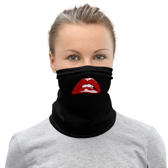Rocky Horror Lips - Neck Gaiter - Face Mask - Social Distancing - Gothic - Funny - Rocky Horror Picture Show