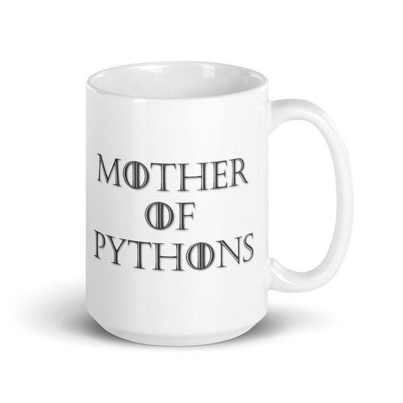 Mother of Pythons - Glossy Ceramic Mug - Ball Python - Snake - Animal - Mother's Day - Snake Mom - Reptile