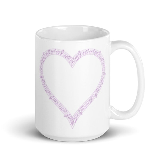 Music Heart - Glossy Ceramic Mug - Coffee - Graphic - Music Lover - Music Appreciation - Musical Notes