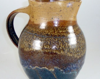 Stoneware Pottery Pitcher  holds 1 Liter or 33 ounces