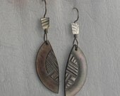 Sterling Silver Broken Vintage Abalone Button Earrings
