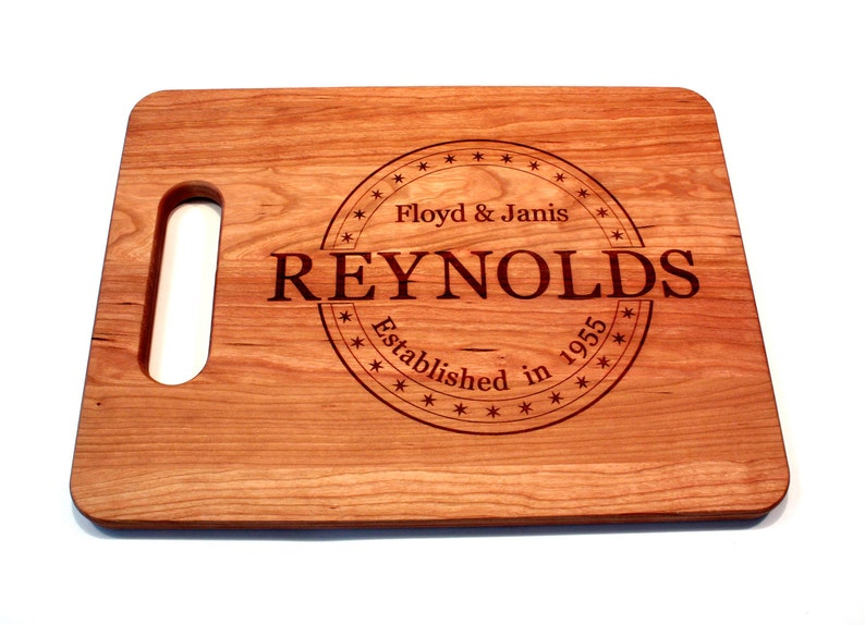 Personalized Christmas Gifts Wedding gifts Fifth Anniversary Housewarming Gift Personalized Cutting Board Wedding Gift Cutting Board