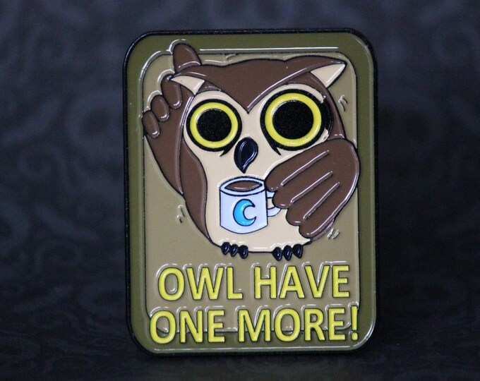 "2"" Soft Enamel Edgar the Night Owl Pin"