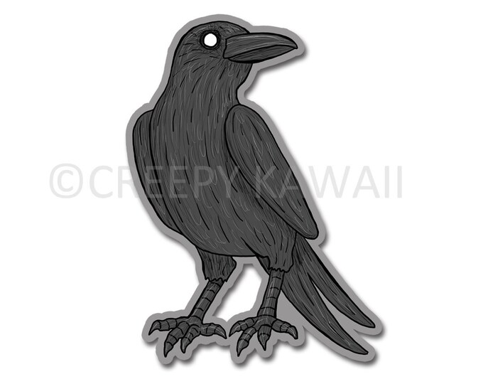 Crow - 3 Inch Weatherproof Vinyl Sticker