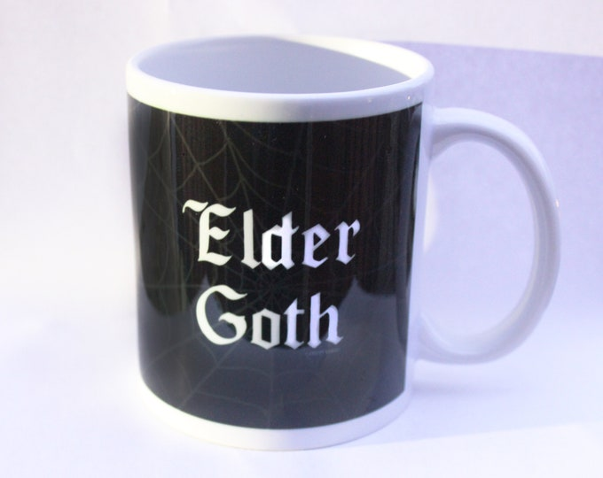 Elder Goth Spiderweb Mug