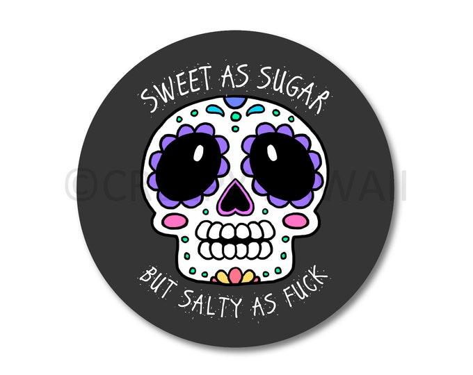 Salty AF Skull - 3 Inch Weatherproof Vinyl Sticker