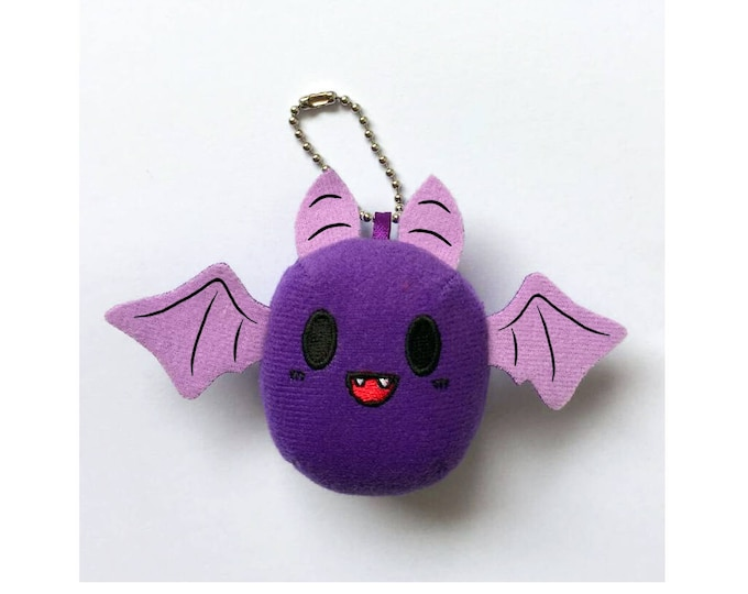 "2.5"" Mini Baby Bat Keychain Plush"