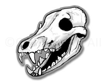 Coyote Skull - 3 Inch Weatherproof Vinyl Sticker