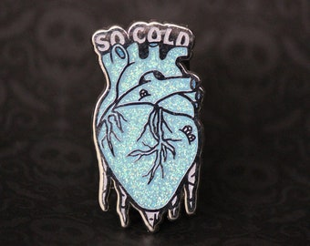 "2"" Hard Enamel Pin So Cold"
