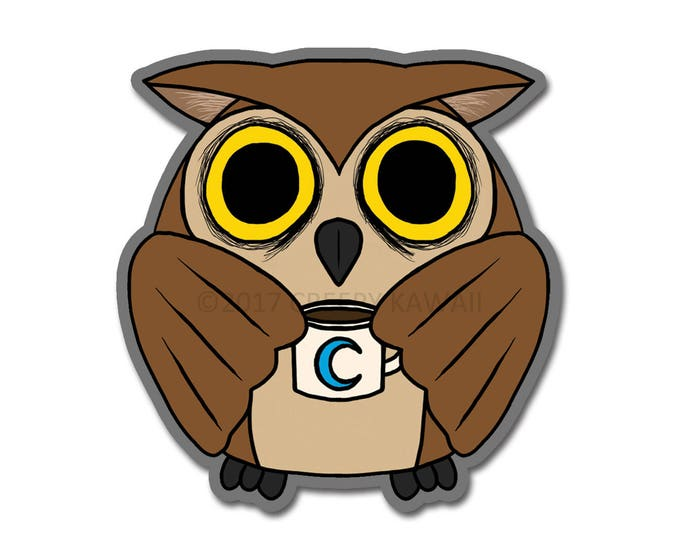 Edgar the Night Owl - 3 Inch Weatherproof Vinyl Sticker