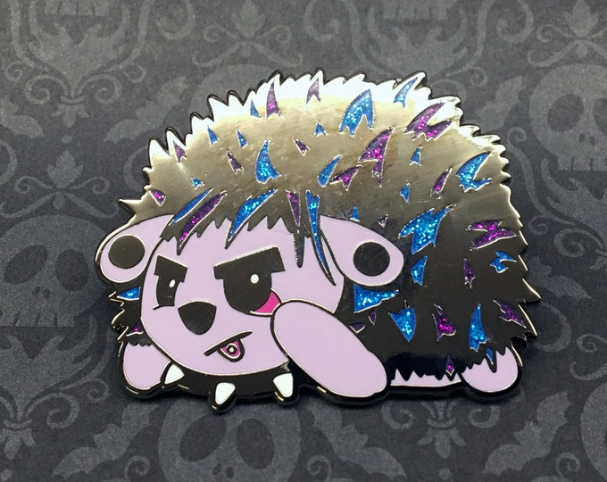 "Edgehog 2"" Hard Enamel Glitter Pin"