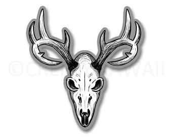 Deer Skull - 3 Inch Weatherproof Vinyl Sticker