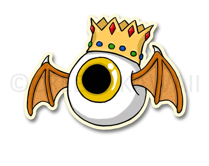 King Eyeball - 3 Inch Weatherproof Vinyl Sticker