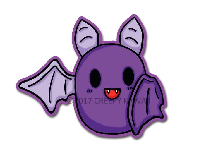 Baby Bat - 3 Inch Weatherproof Vinyl Sticker