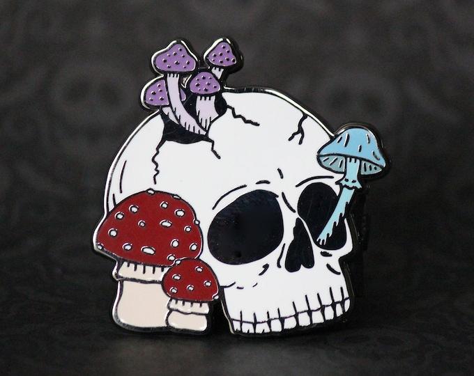 """2"""" Hard Enamel Pin Mushroom Skull"""