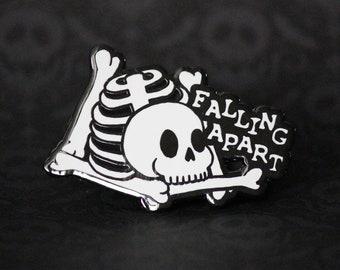 """2"""" Hard Enamel Pin Falling Apart"""