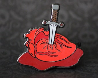 "2"" Hard Enamel Pin Stab My Heart"