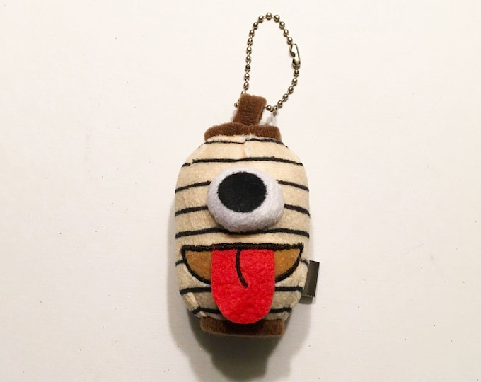 "2.5"" Mini Chochin Obake Paper Lantern Ghost Keychain Plush"